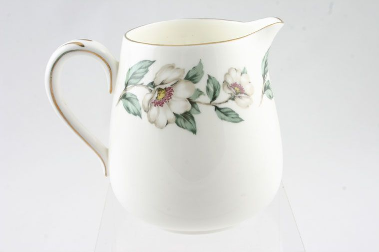 Crown Staffordshire - Christmas Roses - Plain Edge - Milk Jug