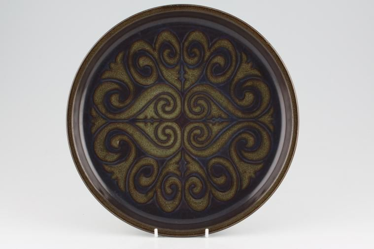 Denby - Bokhara and Kismet - Dinner Plate - Contemporary design(green scroll)