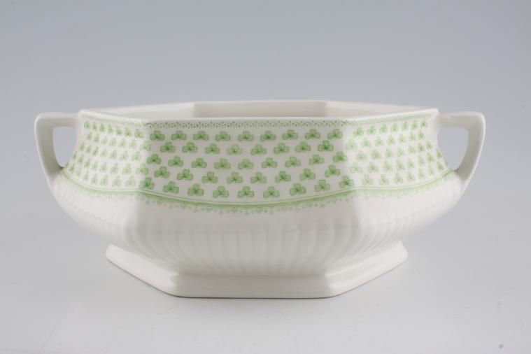 Adams - Shamrock - Vegetable Tureen Base Only - hexagonal