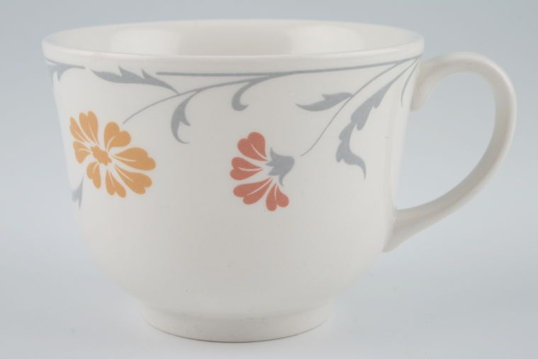 Johnson Brothers - Lugano - Orange and terracotta flowers - Teacup