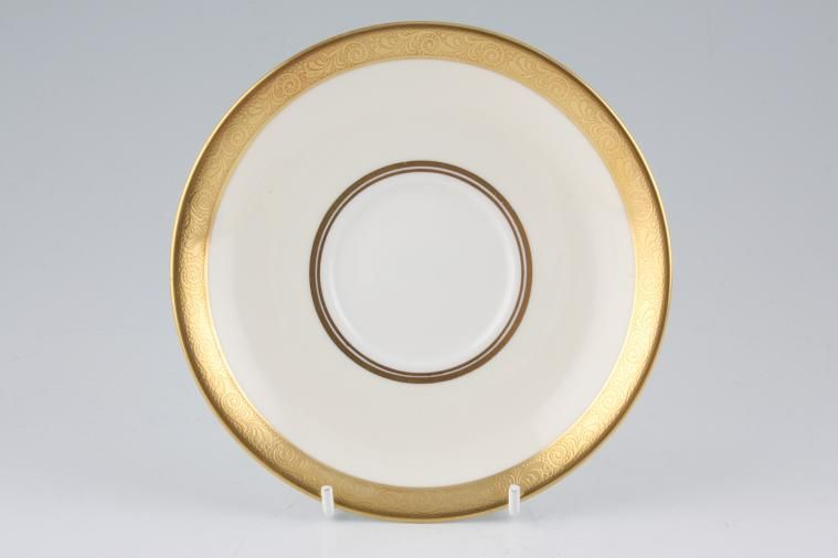 Aynsley - Helene - gold, cream, white - Soup Cup Saucer