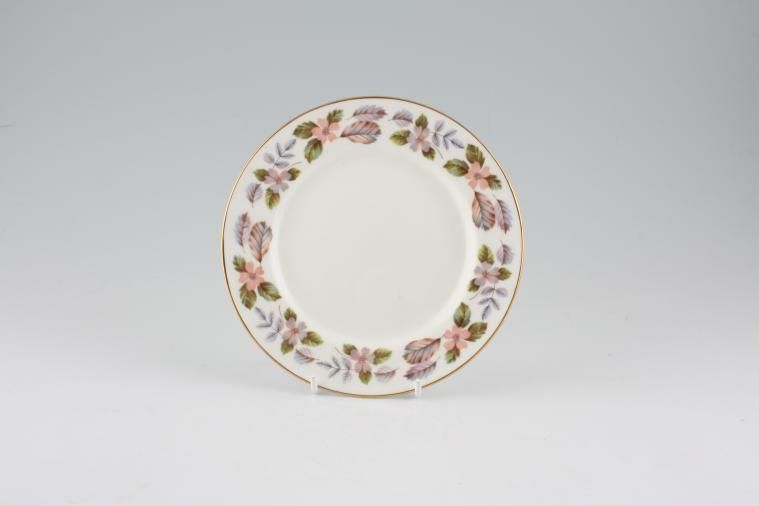 Aynsley - April Rose - Straight Edge - Tea / Side / Bread & Butter Plate