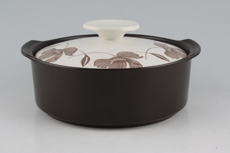 Meakin - Whispering, (Maidstone) - Vegetable Tureen with Lid - dark brown bases