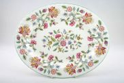 Minton - Haddon Hall - Green Edge - Oval Plate / Platter - 16""