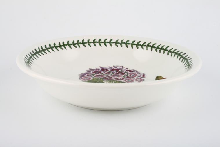 Portmeirion - Botanic Garden - Newer Backstamps - Pasta Bowl - Dianthus Barbatus - Sweet William - named