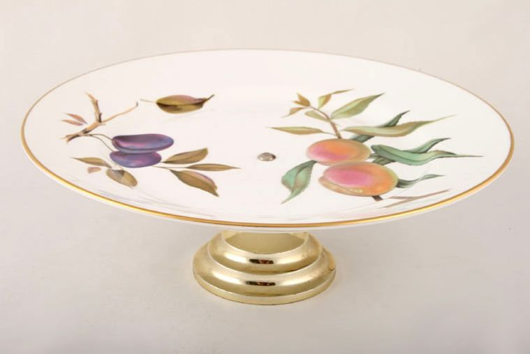 Cake Stand Evesham - Gold Edge by Royal Worcester & No obligation search for Royal Worcester - Evesham - Gold Edge ...
