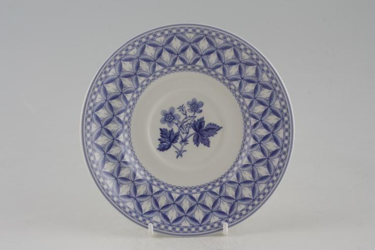 Spode - Geranium - Blue - Breakfast Saucer