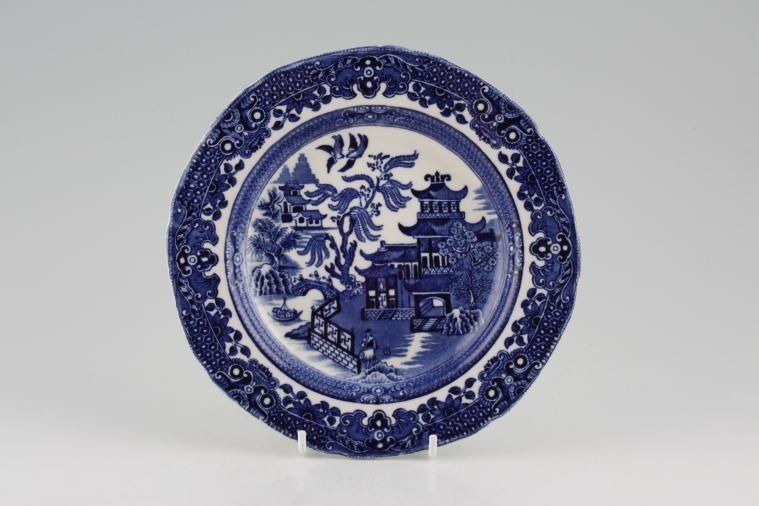 Burleigh - Willow - Blue - Tea / Side / Bread & Butter Plate - No Gold Edge