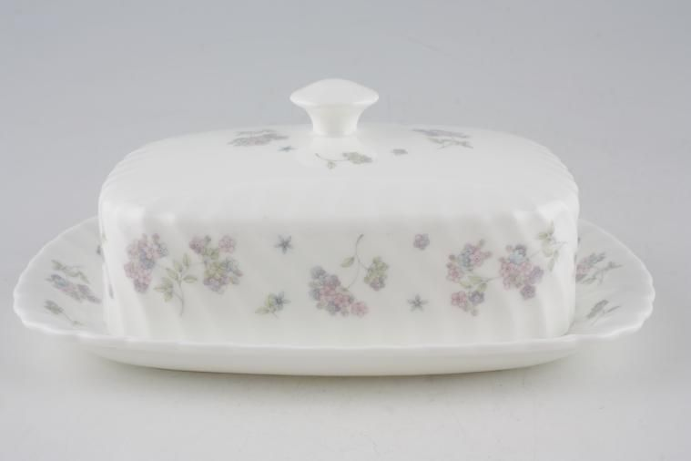 Wedgwood - April Flowers - Butter Dish + Lid